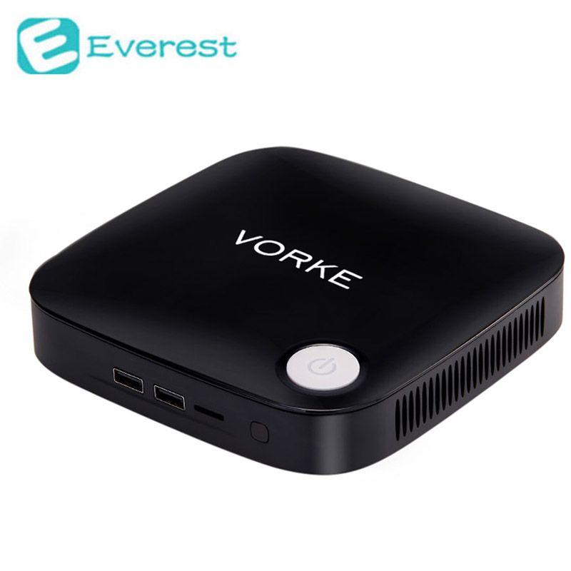 Vorke V1 Plus Windows 10 Mini PC TV Box Intel Apollo Lake J3455 2.3GHz 4GB RAM 64GB SSD 802.11AC Bluetooth4.0 HDMI&VGA USB3.0