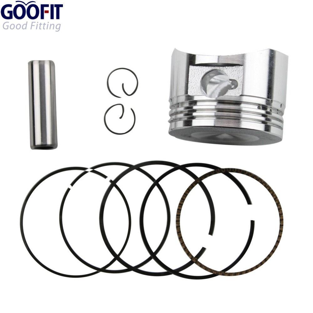 GOOFIT moto 52.4mm anneau de Piston 13mm ensemble de broches Kit ensemble pour 110cc ATV Dirt Bike & Go Kart K082-004