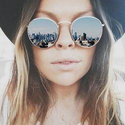 CANCHANGE 2018 Rétro Ronde lunettes de Soleil Femmes Marque Designer Lunettes de Soleil Pour Femmes Alliage Miroir Lunettes De Soleil des femmes Oculus de sol