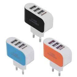 5 V 2A Chargeur Adaptateur 100-240 V 3 USB Hub Port Alimentation Prise de charge Prise pour Frais De Voyage Prise Standard de L'UE pour Téléphone