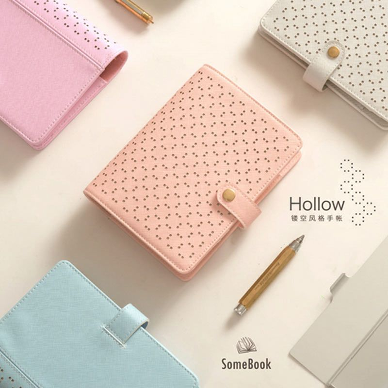 2017 Creative Hollow 6 loose leaf Notebook A5 A6 Diary Planner for stationery office & school supplies