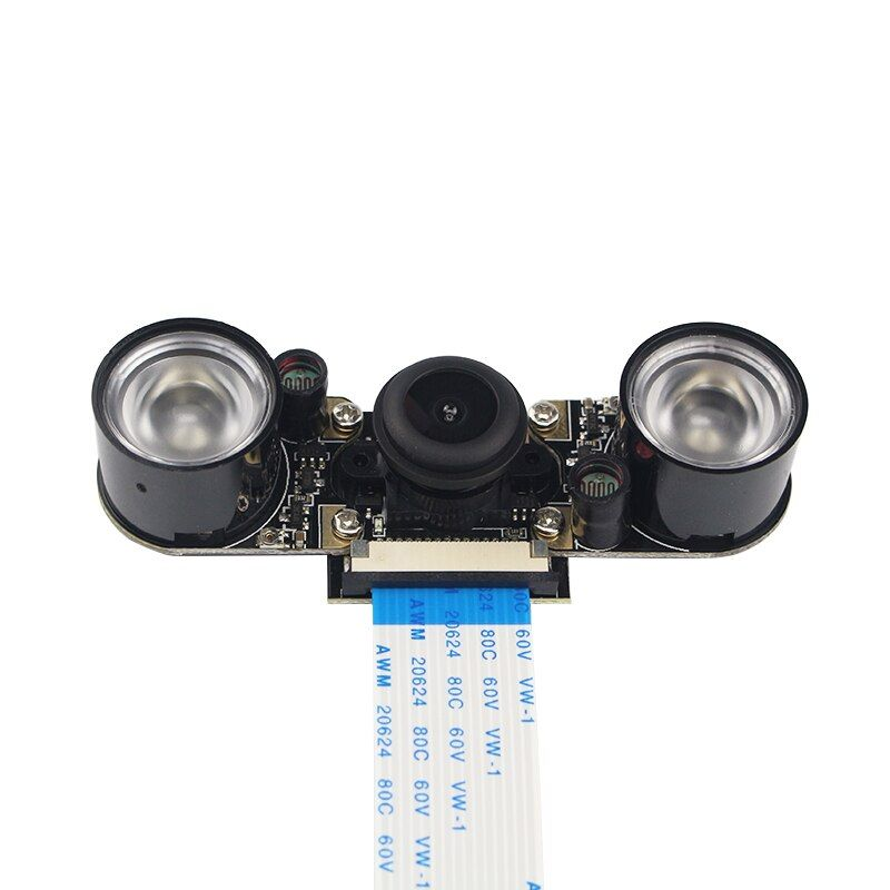 Raspberry Pi 3 Камера Ночное видение Широкий формат рыбий глаз 5 Мп Камера + 2 Инфракрасный Сенсор свет + 15 см FFC для Raspberry Pi 2