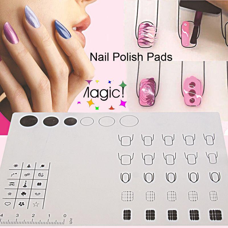 Tapis de Silicone manucure Art des ongles pour estampage tampon inversé transfert d'eau marbre pratique espace de travail conception plaque couverture de Table Pad