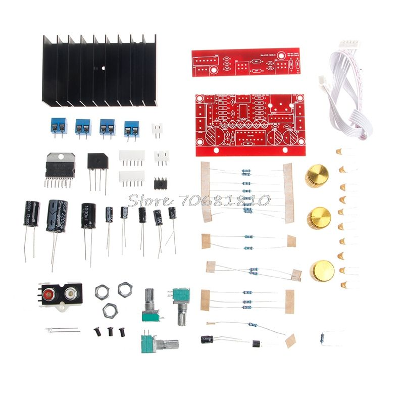Deek-Roboter TDA7377 Leistungsverstärker 2,1 DIY kit 3 Kanal Sound Audio AMP Platte 12-18 V DC Z09 Drop ship