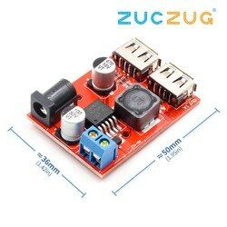 LM2596 LM2596S Dual USB DC-DC 9 V 12 V 24 V 36 V Sampai 5 V 3A Step Down converter Papan Charger Mobil Solar Power Supply Modul