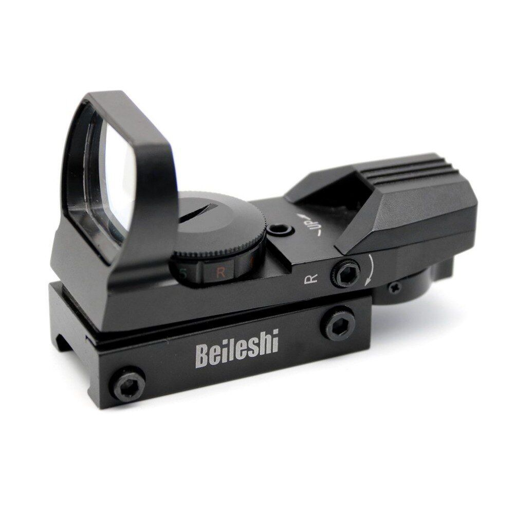 20 мм железнодорожных прицел Охота Airsoft оптика Сфера Голографическая Красный точка зрения рефлекс 4 сетка тактический пистолет Интимные акс...