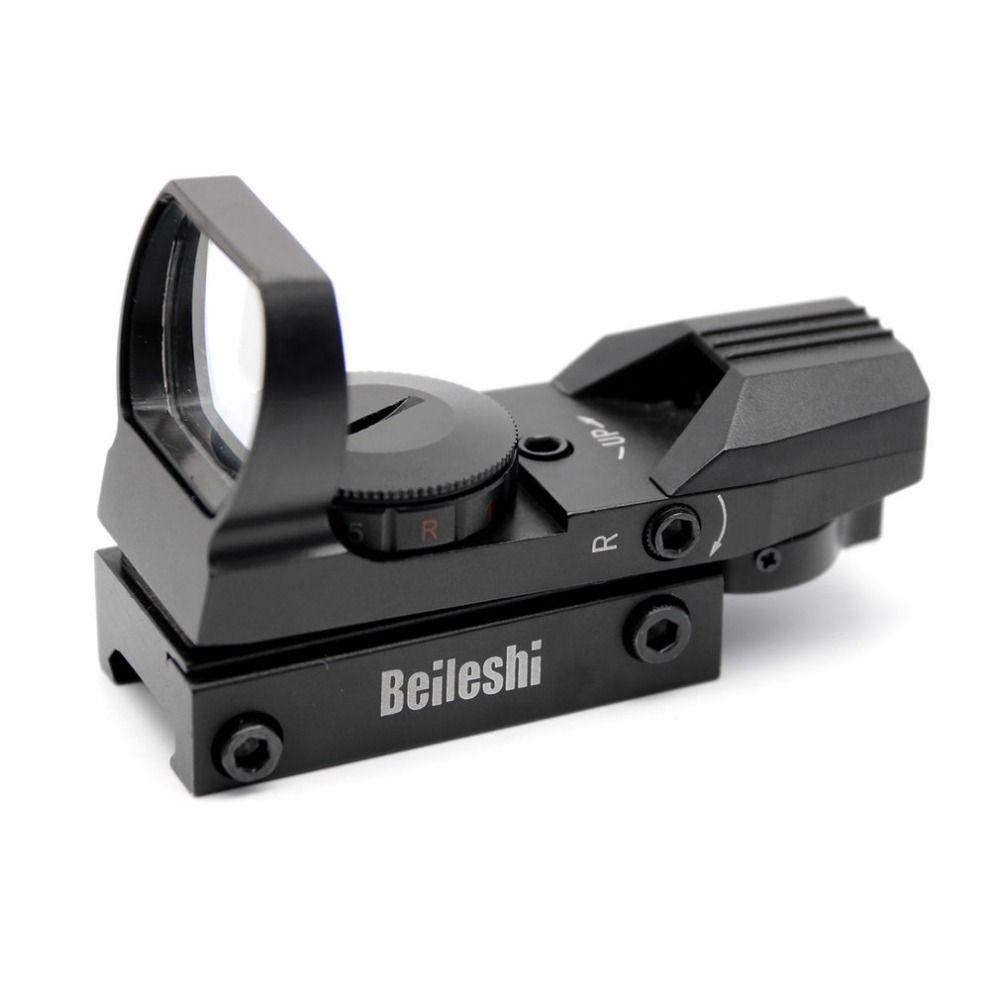20mm Schiene Zielfernrohr Jagd Airsoft Optics Scope Holographic Red Dot Sight Reflex 4 Absehen Tactical Gun Zubehör Heißer Verkauf