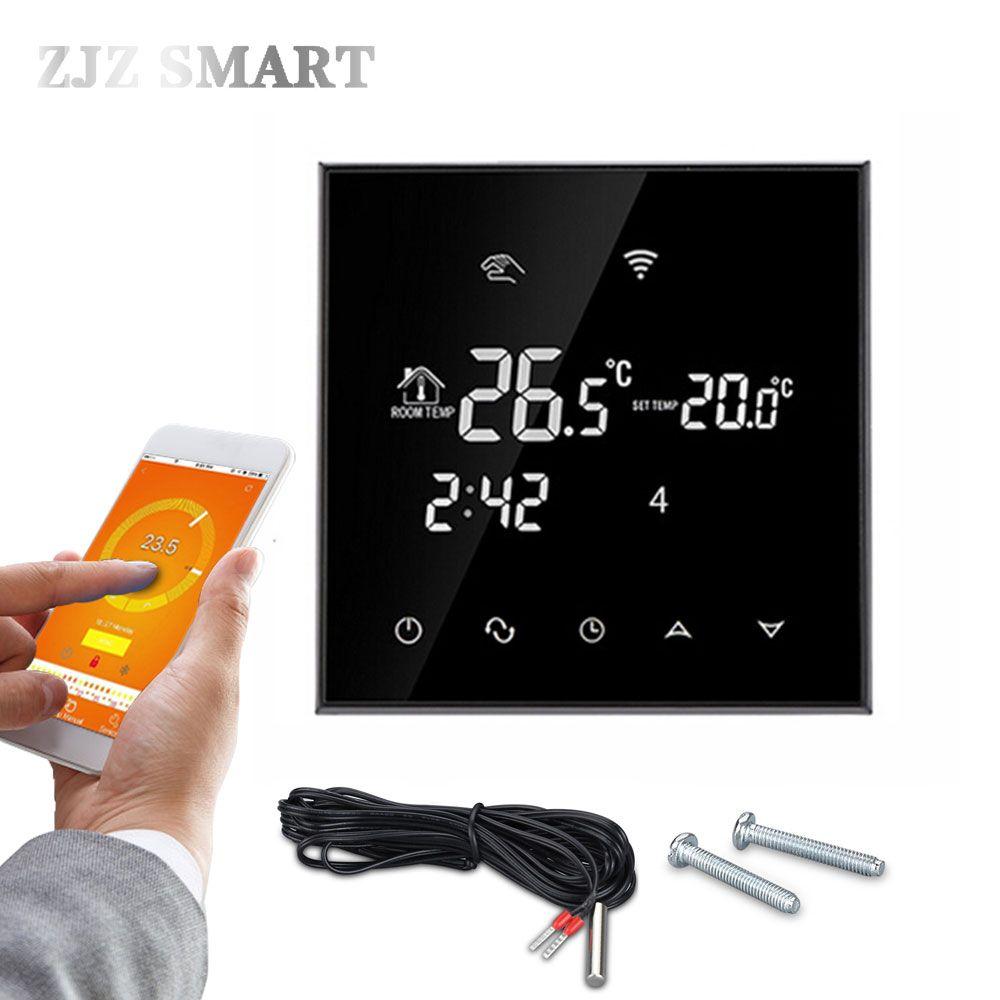 Contrôleur de température de Thermostat d'écran tactile de WiFi pour la chaudière à eau/gaz de chauffage par le sol électrique/eau fonctionne chaque semaine Programmable