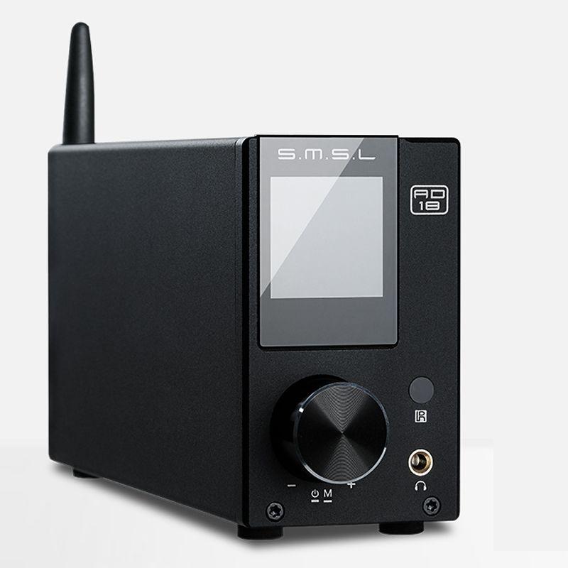 SMSL AD18 80W*2 CSR A64215 DSP HIFI Bluetooth Pure Digital Audio Amplifier Optical/Coaxial USB DAC Decoder With Remote Control