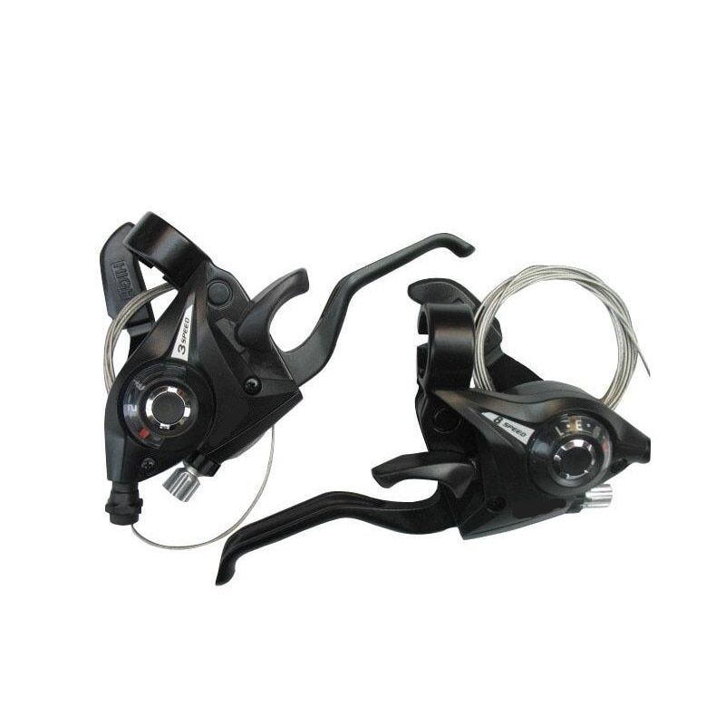 24 speed Bicycle Shifter Brake 3 X 7 21 Speed MTB Mountain Bike road Bike Cycling <font><b>Disc</b></font> Brakes Levers with Shift Cable Dropship