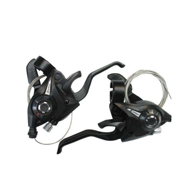 24 speed Bicycle Shifter <font><b>Brake</b></font> 3 X 7 21 Speed MTB Mountain Bike road Bike Cycling Disc <font><b>Brakes</b></font> Levers with Shift Cable Dropship