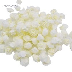 50 unids/lote 3,5 cm espuma Rose Multi-Cabeza de flor Artificial hecha a mano con tul partido casero de la boda de DIY decoración suministros