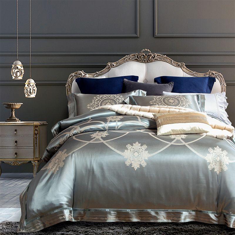 Red Gold Silk Cotton Bedding Set Queen King size Bed sheet Beddings and Bed sets Duvet Cover ropa de cama parure de lit adulte