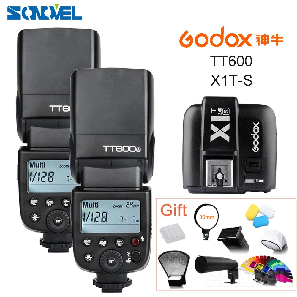 2x Godox TT600s HSS GN60 2.4G Camera Flash Speedlite+X1T-S Transmitter for Sony A7 A7S A7R A7 II A6500 A6300 A6000 A6100 A58 A99