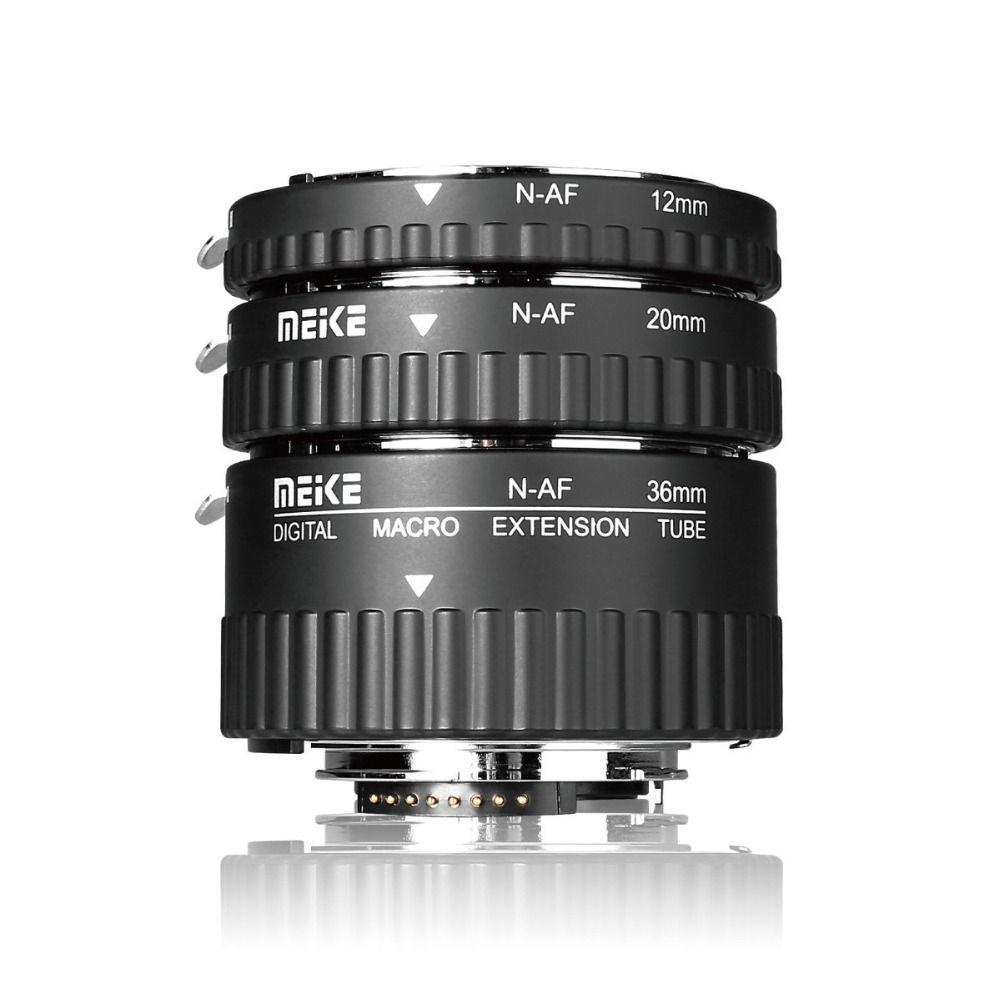 Meike N-AF-A Auto Focus Ring Macro Extension Tube pour Nikon D60 D90 D3000 D3100 D3200 D5000 D5100 D5200 D7000 D7100 Caméra DSLR