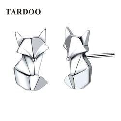 Tardoo Fox Shape Genuine 925 Sterling Silver Stud Earrings for Women Lovely & Classic Style Brand Fine Jewelry