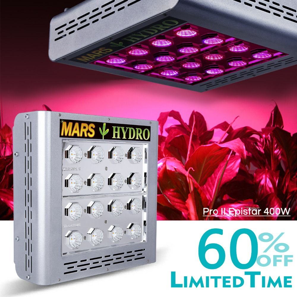 Mars ProII Epistar 400W LED Grow Light Full Spectrum Hydroponics for Greenhouse 166W Veg Bloom Switches