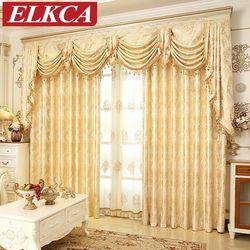 D'or européen Royal De Luxe Rideaux pour Chambre Fenêtre Rideaux pour Salon Élégant Rideaux Rideaux Européenne