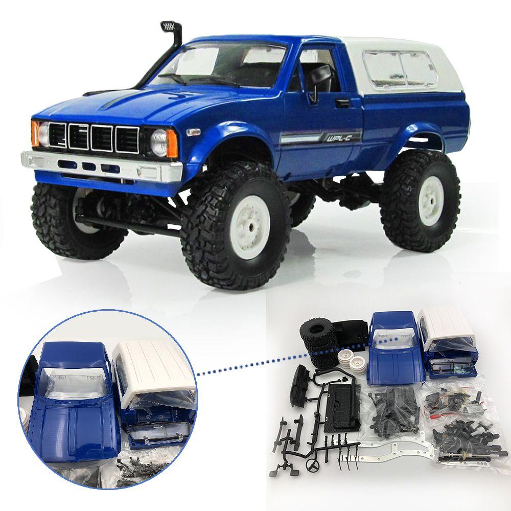 WPL C24 2.4G Diy RC Car Kit Remote Control Toys RC Crawler 4WD Off-road Buggy Remote Car uzaktan kumandali araba kids toys boys