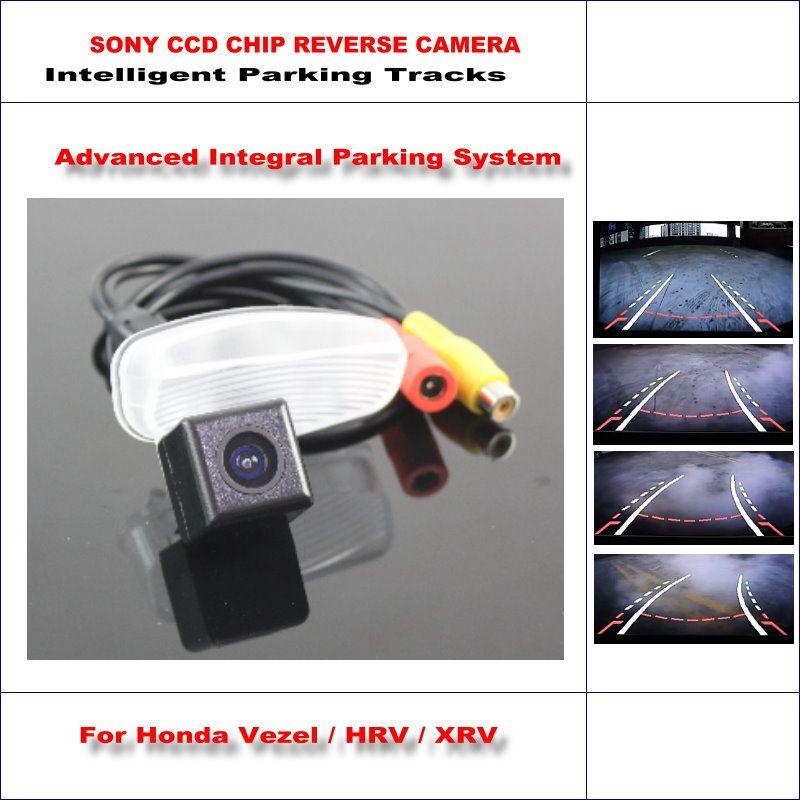 Rear Camera For Honda Vezel / HRV HR-V / XRV X-RV Intelligent Parking Tracks Reverse / 580 TV Lines Dynamic Guidance Tragectory