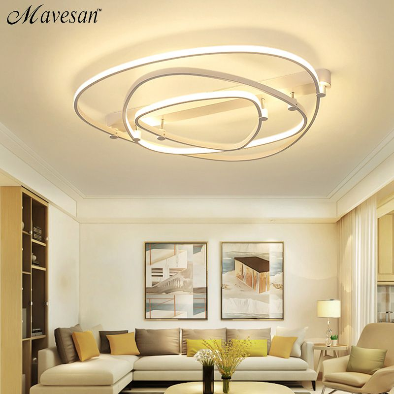 New LED Ceiling Lights For Living Room luminaria abajur Indoor Lights Fixture Ceiling Lamp For Home Decorative Lampshade