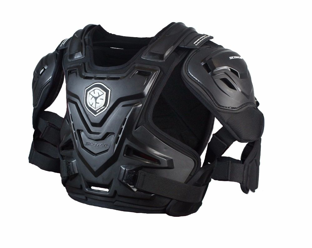 SCOYCO AM07 Racing chest and back protective motorcycle WAVE PRO Guard Armor Neck with JACKET