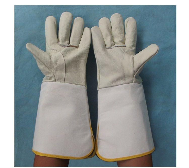 Высокое качество Длинная стильная сварки Перчатки защитные износостойкая высокая термостойкость холст рабочих Перчатки