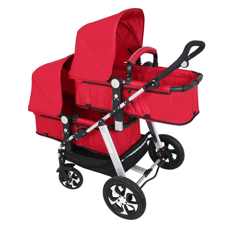 Babyfond Twin Baby Stroller Can Sit And Lie The High Landscape Light And Shock Proof Foldable Double Stroller