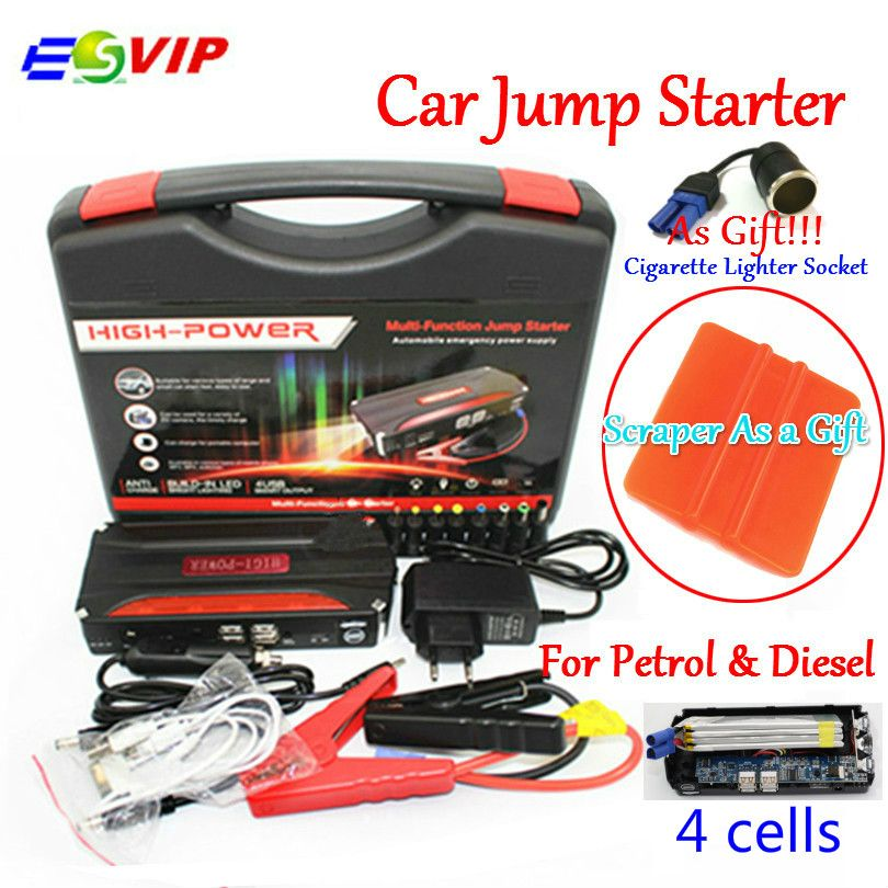 Promotion Multi-Function Mini Portable Emergency Battery Charger Car Jump Starter Booster Power Bank Starting Device
