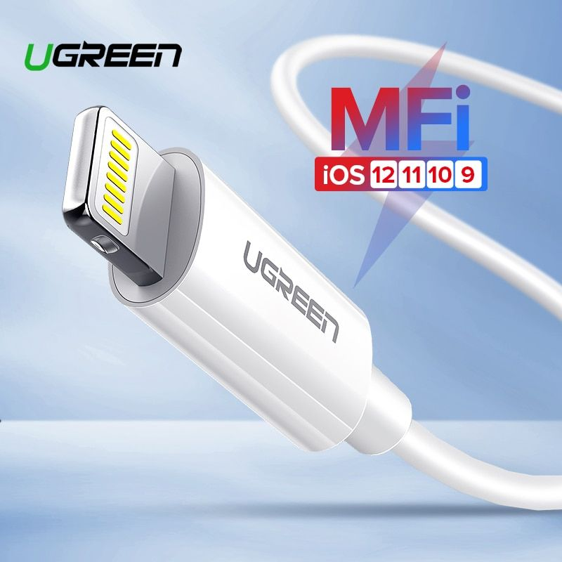 Ugreen USB Cable for iPhone Cable X Xs Max XR 2.4A Fast Charging USB Charger Data Cable for iPhone 8 7 6 6SPlus USB Charger Cord