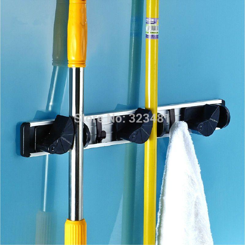Многофункциональный СС стойки Алюминий Ванная комната хранения держатель стойки для Швабра Метла зонтик с крюком Очищающие щётки Рамка по...