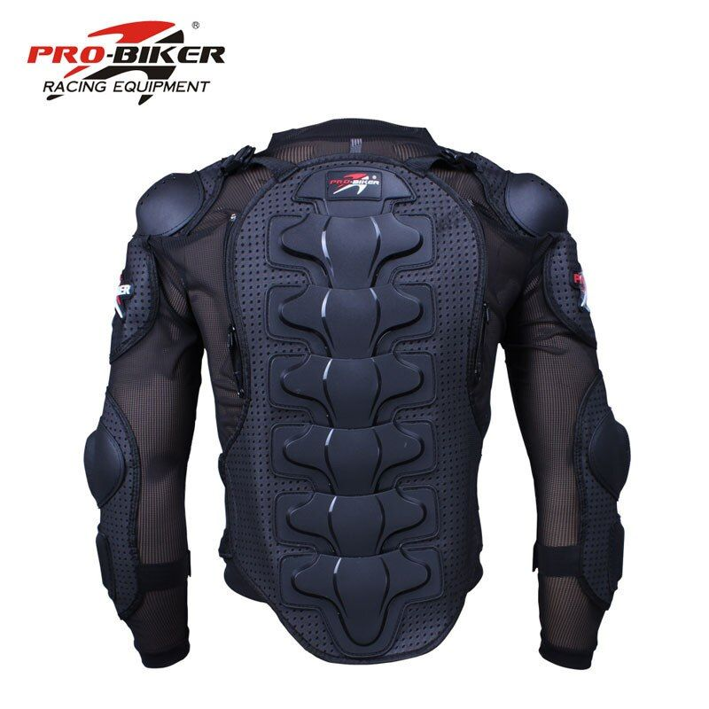 Pro-Biker motorcycle protective armor gear Jacket Full Body Armor cloth <font><b>Motocross</b></font> Turtle back protection Motorcycle Jackets