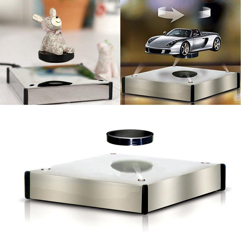 Rotating Magnetic Levitron Floating Show Shelf Holder Display Plateform Magnetic Product Jewelry Display Base Magnetic Holder