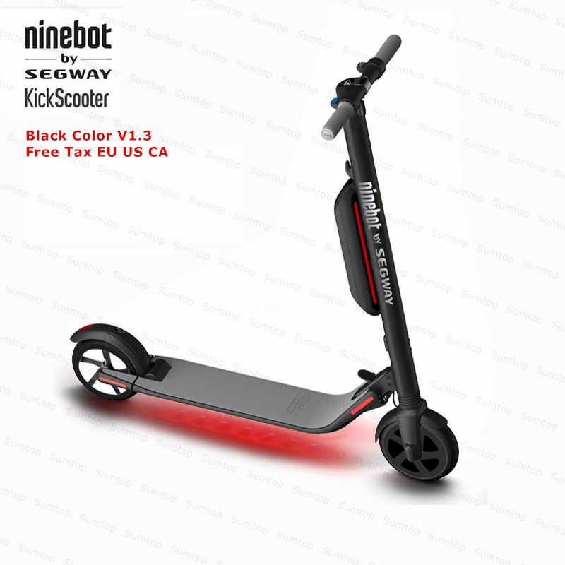 Ninebot KickScooter ES4/ES2 Smart Electric Scooter foldable lightweight board hoverboard skateboard V1.3 Black Color Version