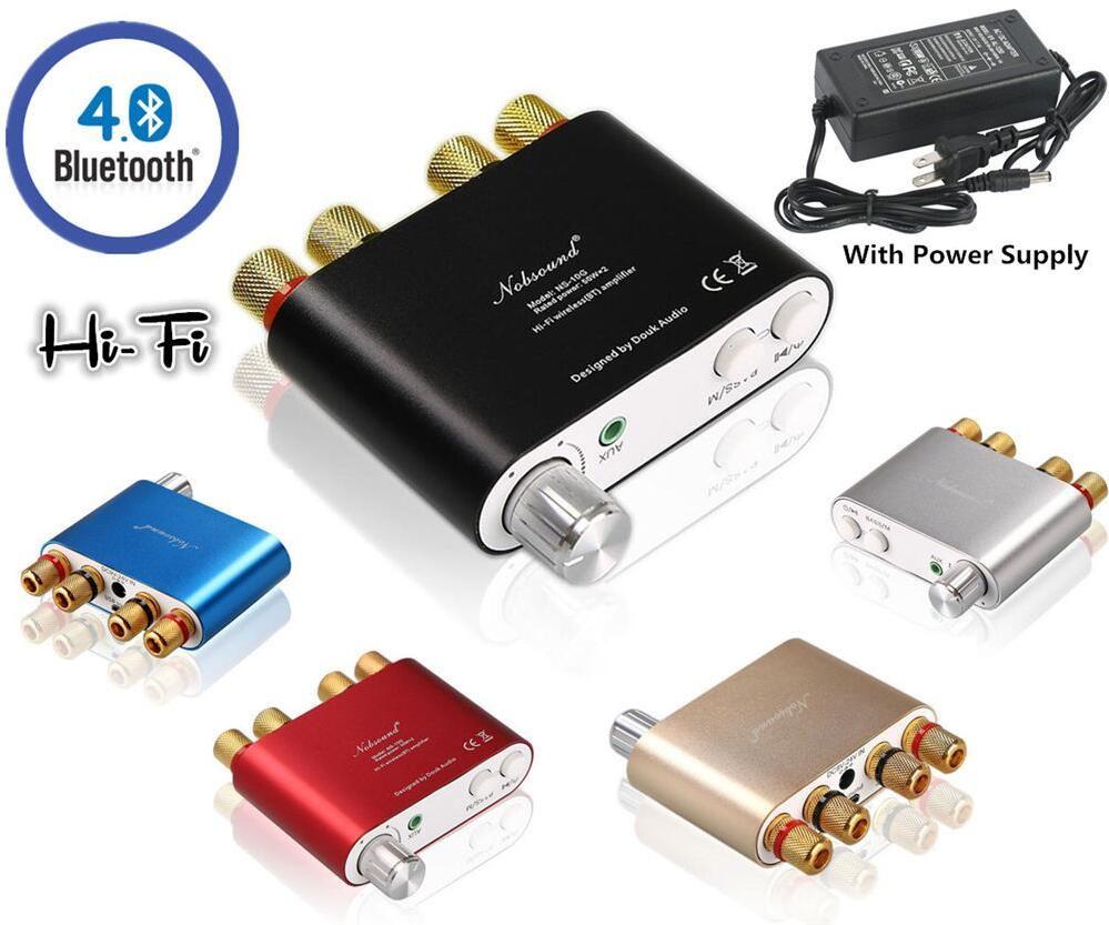 2017 New Nobsound HiFi <font><b>100W</b></font> Mini TPA3116 Bluetooth 4.0 Digital Amplifier Amp +Power Supply Free Shipping