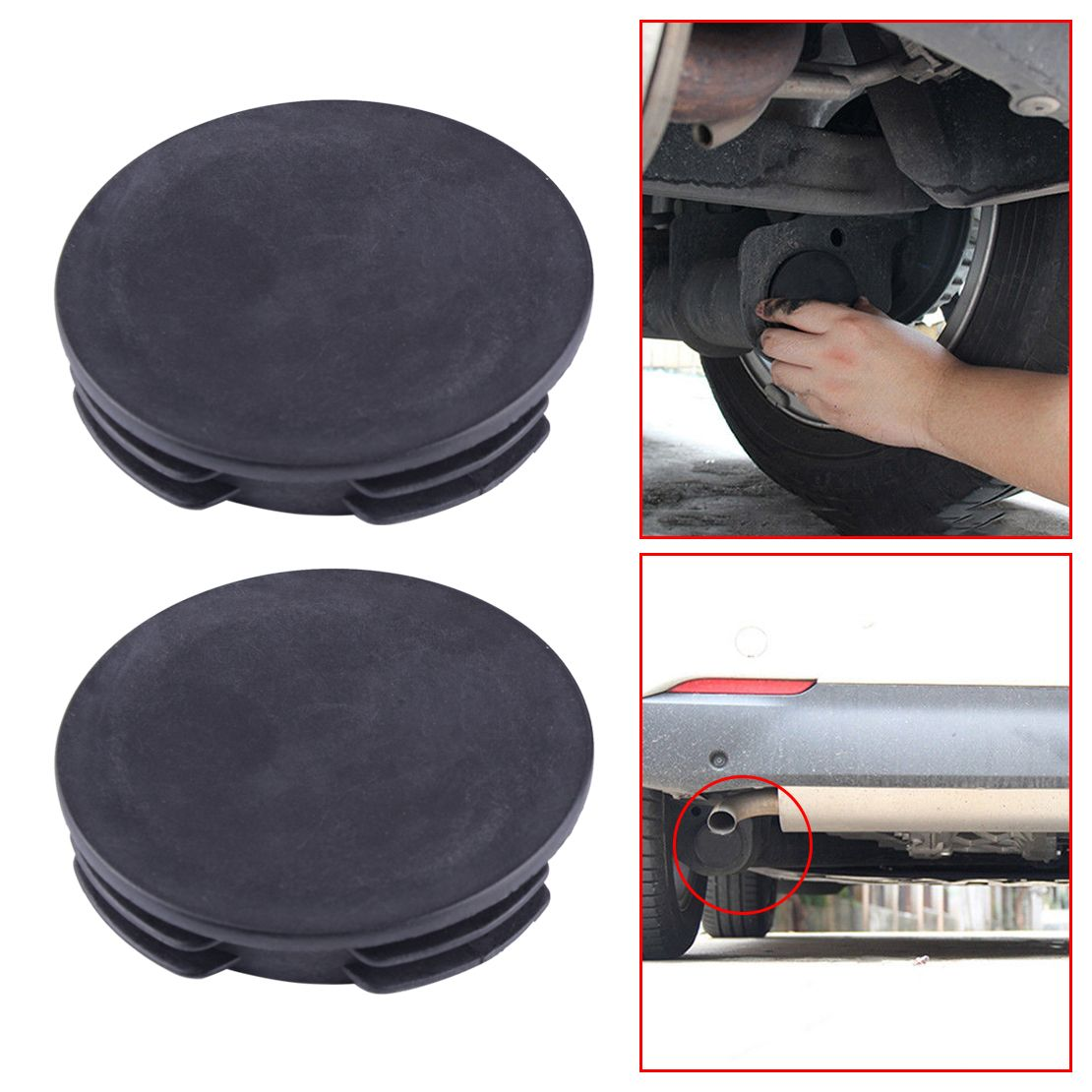 CITALL Car Exhaust Tail Pipe Tip Muffler Protector Cap Water Baffle Cover for Benz Smart Fortwo Forfour W451 20082009-2013  2014