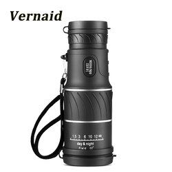 Berburu Bermata 16x52 Fokus Lensa Optik genggam HD Day Night Vision saku Travel Teropong Telescope spotting Scope