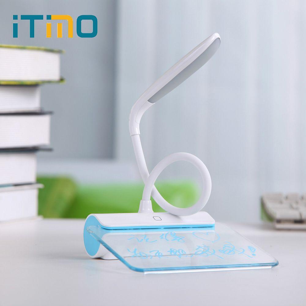3 Mode gradation USB Rechageable tactile interrupteur lampe de Table Protection des yeux Message lumière LED lampe de bureau nuit lumière de lecture