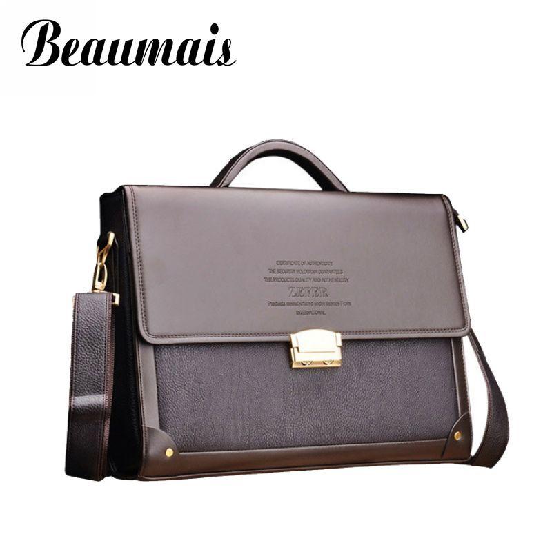 Beaumais Berühmte Marke Business Passwortsperre Sicherheit Aktentasche Männer Tasche Büro Handtaschen 2017 Männer Leder Umhängetasche Bolsa BG289