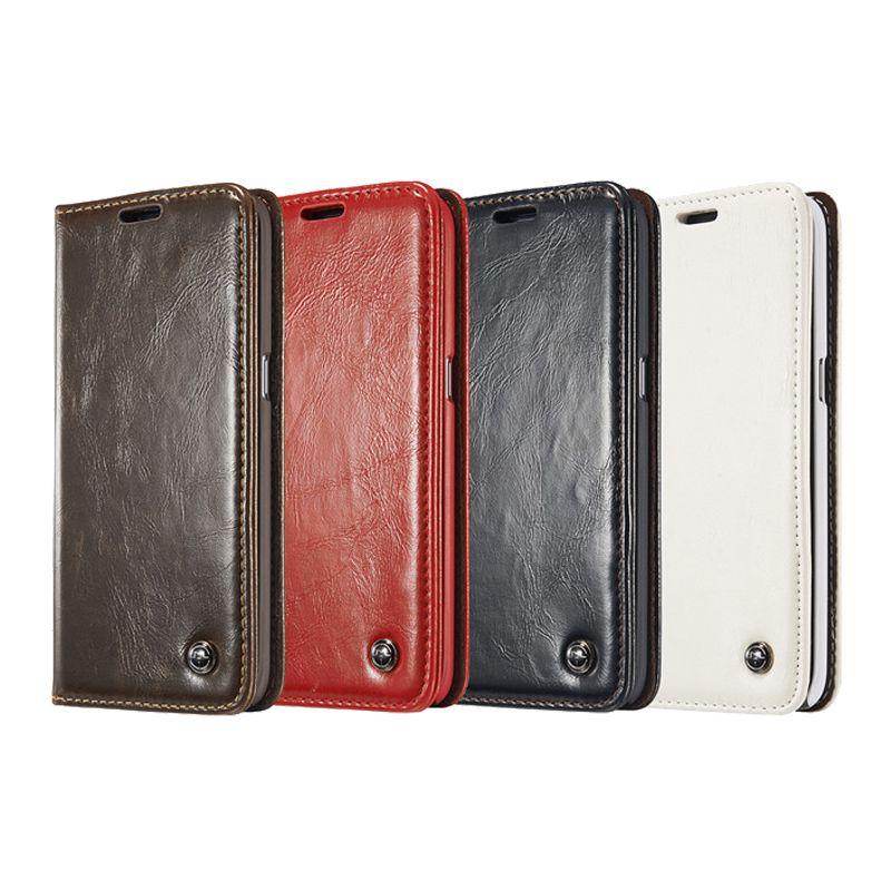 De luxe En Cuir Téléphone Cas pour Samsung Galaxy S8 S7 S6 Bord S9 Plus S5 Mini S4 Note 8 5 4 magnétique Flip Couverture S8Plus Portefeuille Sacs