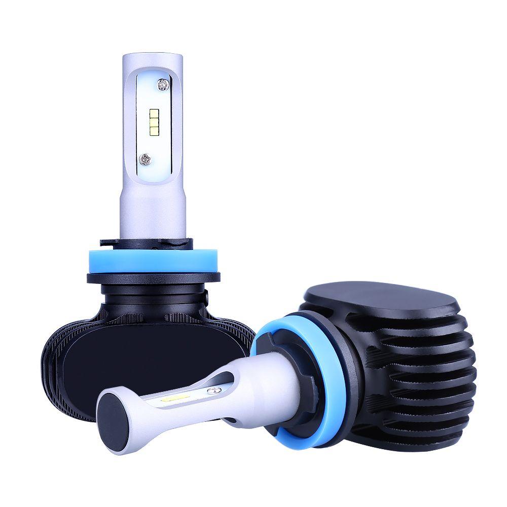 2Pcs H4 LED H7 H11 H1 H3 9005 9006 Auto Car Headlight 80W 8000LM High Low Beam Light Automobiles Lamp white 6500K Bulb