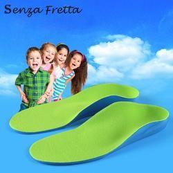Senza Fretta/Для детей EVA ортопедические стельки дети плоская поддержка свода стопы ортопедические подушки коррекции уход за здоровьем ног