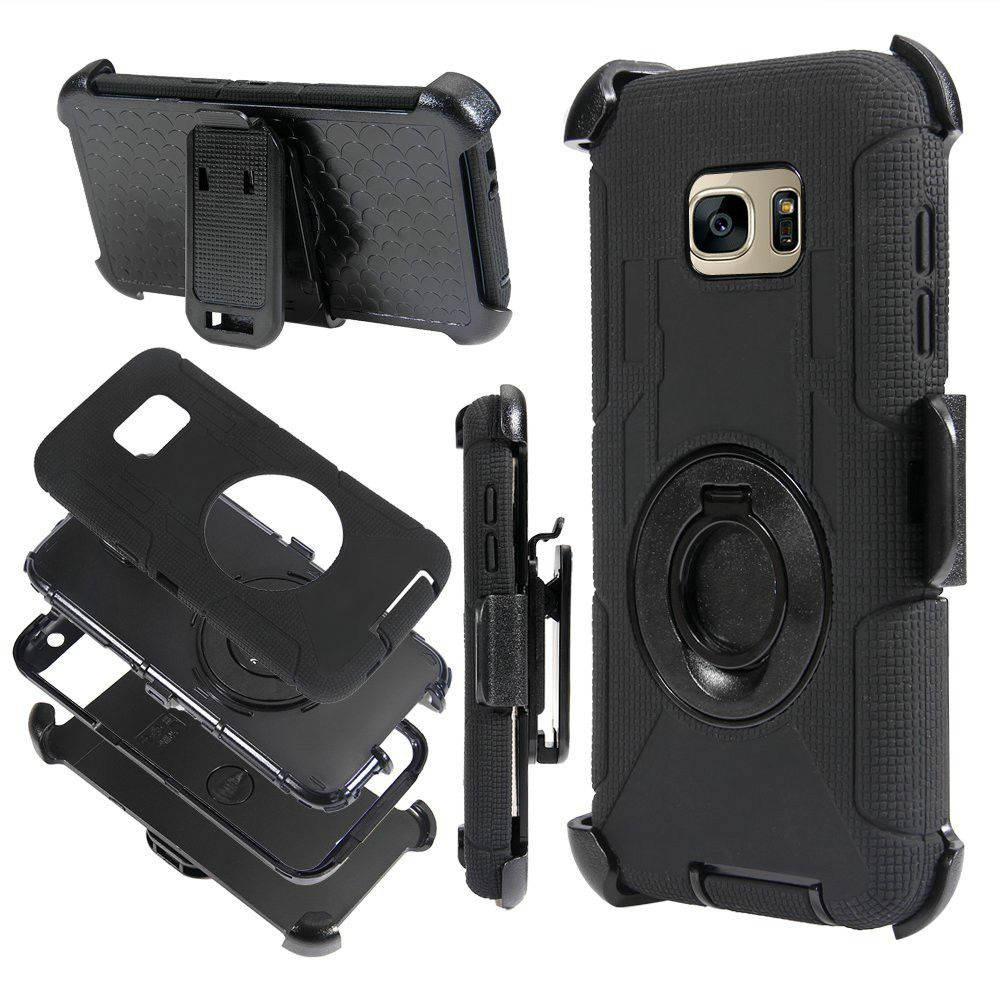 3 in 1 Defender Armor Cover Case For Samsung Galaxy S8 Capa Stand Holder Belt Clip Silicon Shockproof hoesje For Samsung S8 Plus
