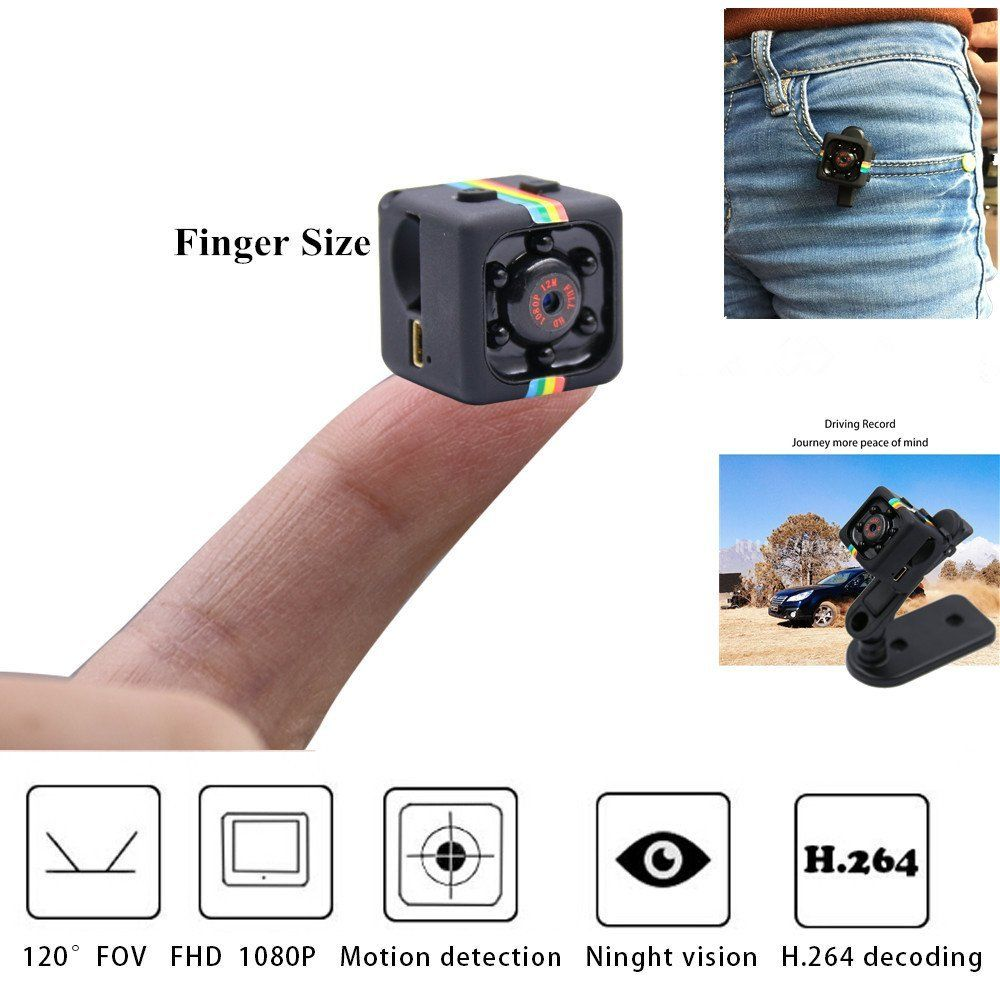 Mini Pro 1080P Portable Small Nanny Cam with Night Vision Motion Sensor Perfect Indoor Security Surveillance Camera for Home