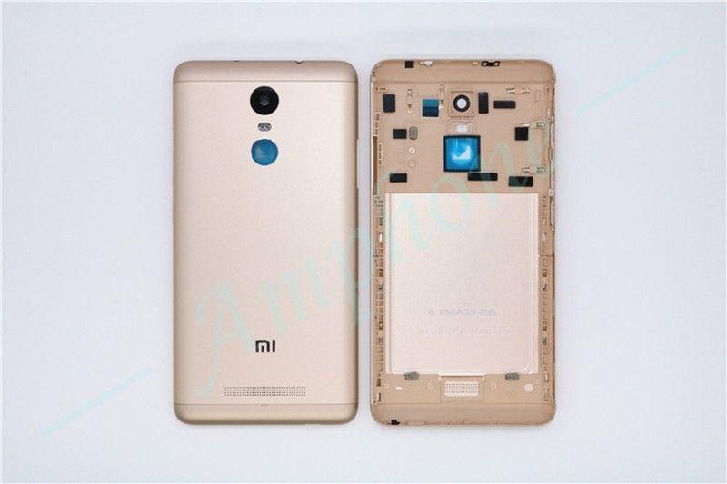Nouveau pour Xiaomi Redmi Note 3 Pièces De Rechange Retour Batterie couverture de Porte Logement + Boutons Latéraux + Caméra Flash Lentille remplacement