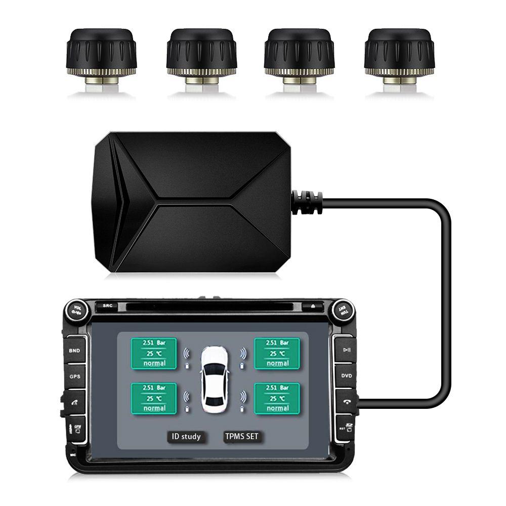 CST-TY06 Tire Pressure Monitoring System USB TPMS Reifendruck Alarm mit 4 Externe Sensoren für Die Meisten Fahrzeuge
