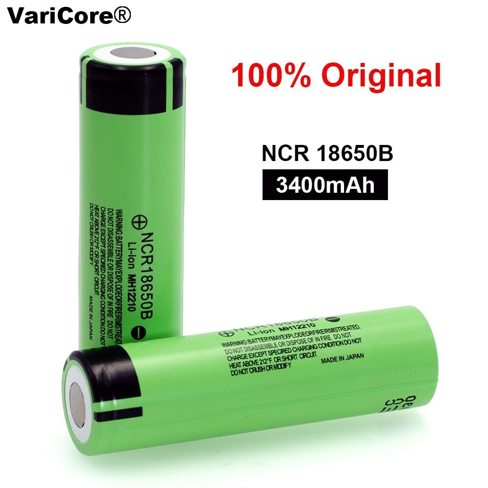 100% New Original NCR18650B 3.7 v 3400 mah 18650 Lithium Rechargeable Battery For Flashlight batteries