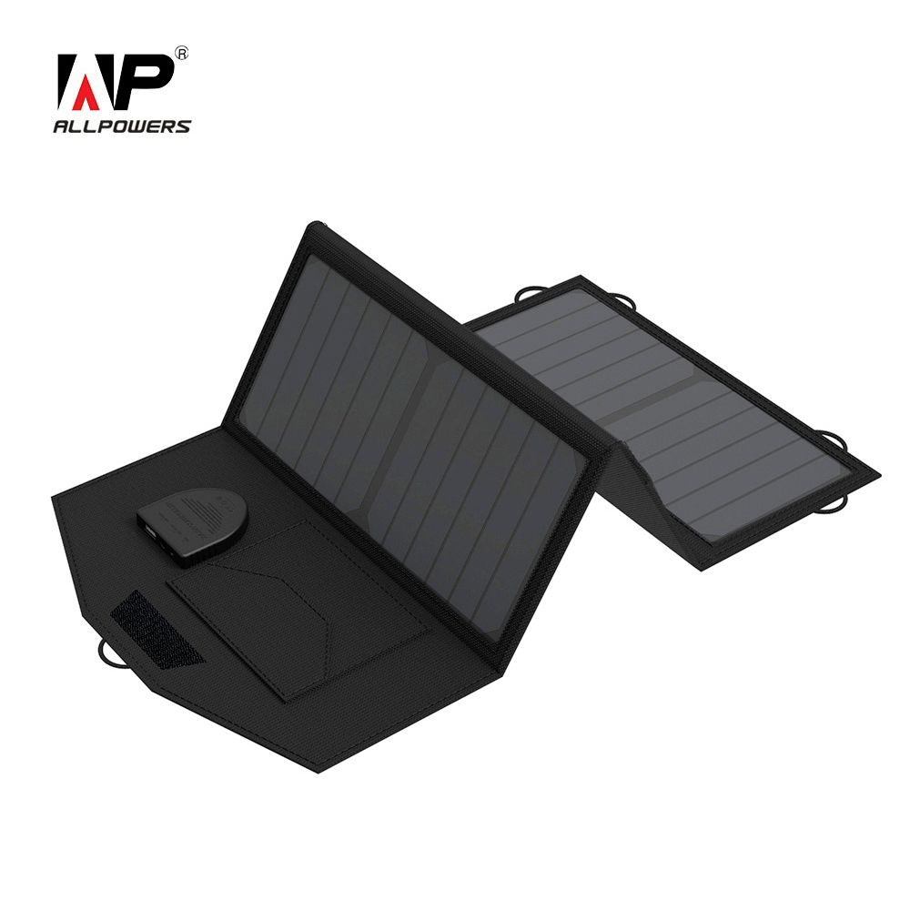 ALLPOWERS Portable Solar Charging Panel Charger 18V 5V 21W Foldable Charging Pad with Dual Output for Smartphones Outdoor Use