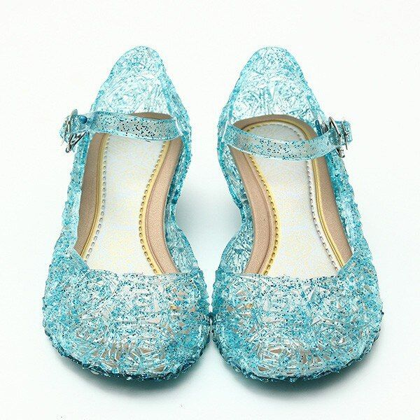 2018 baby shoes girls sandals anna&elsa Kids baby shoes elsa princess and cosplay shoes party and Comfortable free shipping 945