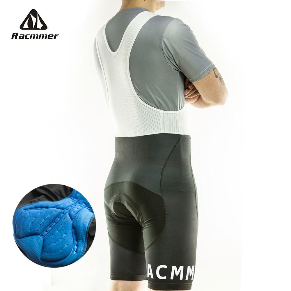 Racmmer 2018 Mens Cycling Bib Shorts Summer Coolmax 5D Gel Pad Bike Bib Tights Mtb Ropa Ciclismo Moisture Wicking Pants #BD-02